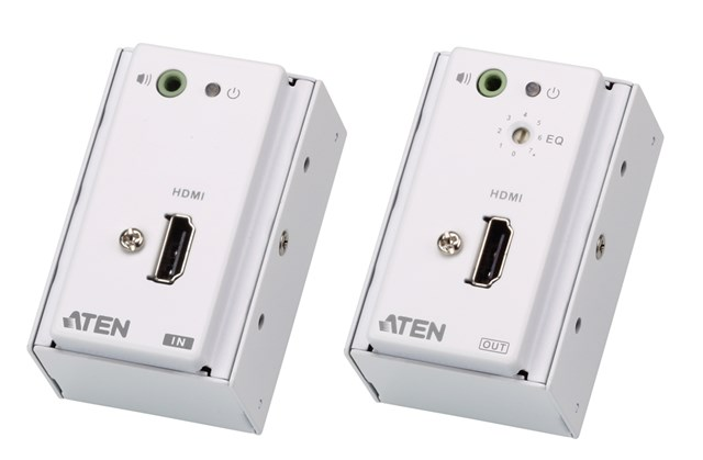 Hdmi/audio Cat5 Extender With Mk Wall Plate