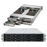 SuperServer SYS-6028TR-HTR 2U Dual SKT Intel C612 ChIPSet SATA-III H/Swap 1600W Redundant