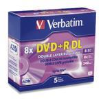 DVD+r Media 8.5GB 8x Double Layer 5-pk