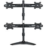 Desk Mounting Stand For Quadruple Monitors 15-24i/max 8kg Per Hinge/tilt Max 20o/swivel 20o/rotate 3