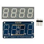 0.56i 4-digit 7-segment Display W/i2c Backpack White