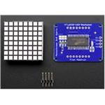 Small 1.2i 8x8 Bright Square LED Matrix+ Backpack Blue