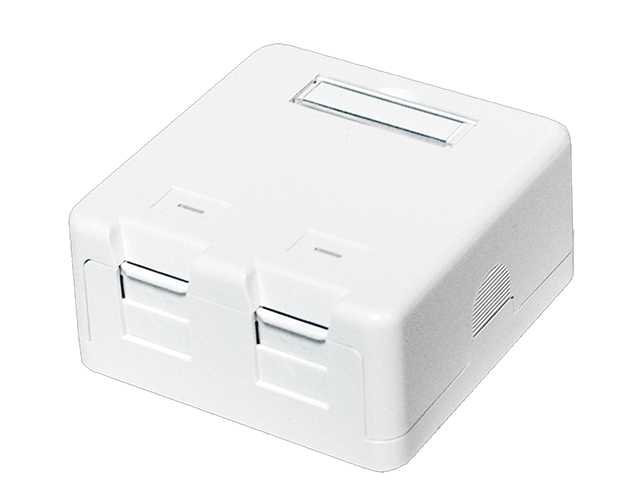 Keystone Surface Mounted Box 2 Port Utp White Nk4032